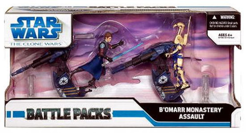 Star Wars The Clone Wars 2009 Battle Pack Bo'Mar Monastery Assault Exclusive Action Figure Set