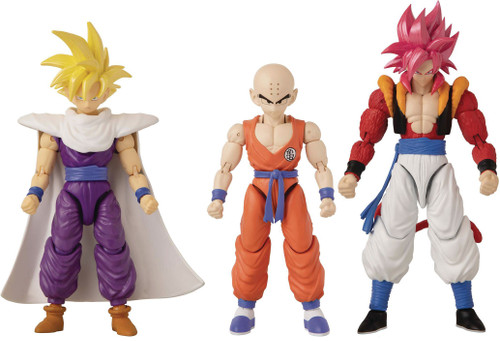Dragon Ball Super Dragon Stars Series 14 Super Saiyan 4 Gogeta, Krillin & Super Saiyan Gohan Set of 3 Action Figures