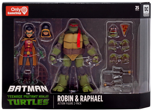 DC Teenage Mutant Ninja Turtles Batman vs TMNT Robin & Raphael Exclusive Action Figure 2-Pack