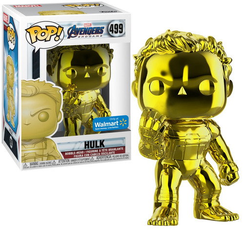 Funko Avengers Endgame POP! Marvel Hulk Exclusive Vinyl Figure #499 [Yellow Chrome]