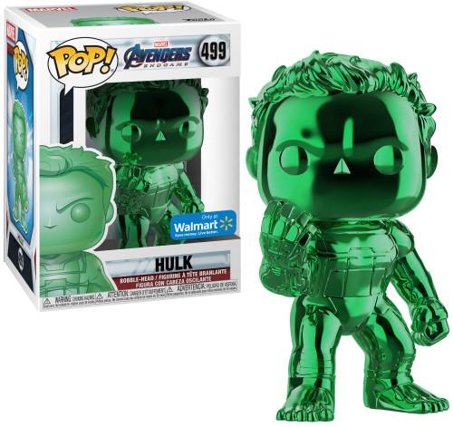 Funko Avengers Endgame POP! Marvel Hulk Exclusive Vinyl Figure #499 [Green Chrome]