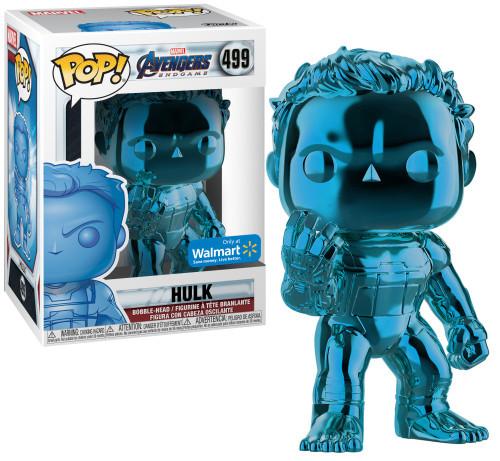 Funko Avengers Endgame POP! Marvel Hulk Exclusive Vinyl Figure #499 [Blue Chrome]