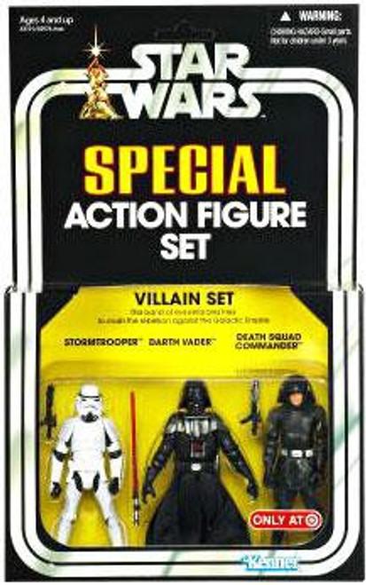 Star Wars A New Hope Vintage Special Stormtrooper, Darth Vader, Death Squad Commander Exclusive Action Figure 3-Pack [Villain Set]