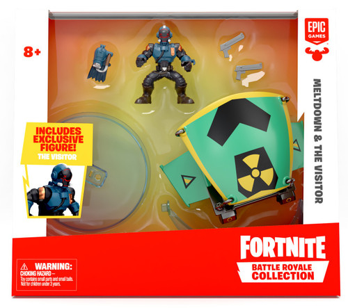 Fortnite Epic Games Battle Royale Collection Meltdown & The Visitor 2-Inch Vehicle & Mini Figure