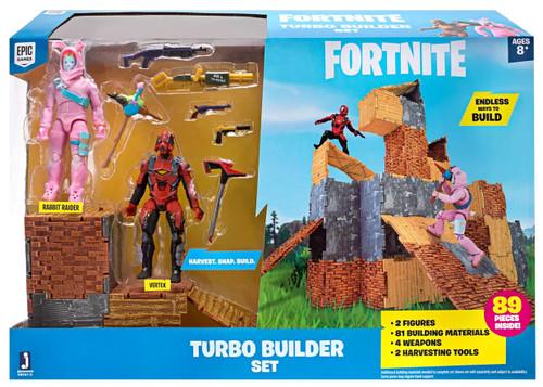 Fortnite Series 2 Turbo Builder Set Action Figure Playset [Rabbit Raider & Vertex]