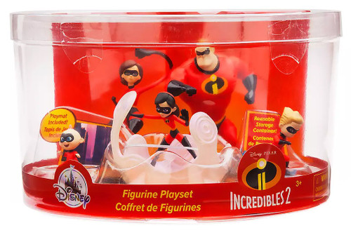 Disney / Pixar Incredibles 2 Mr. Incredible, Mrs. Incredible, Violet, Dash, & Jack-Jack Exclusive 5-Piece PVC Figurine Playset