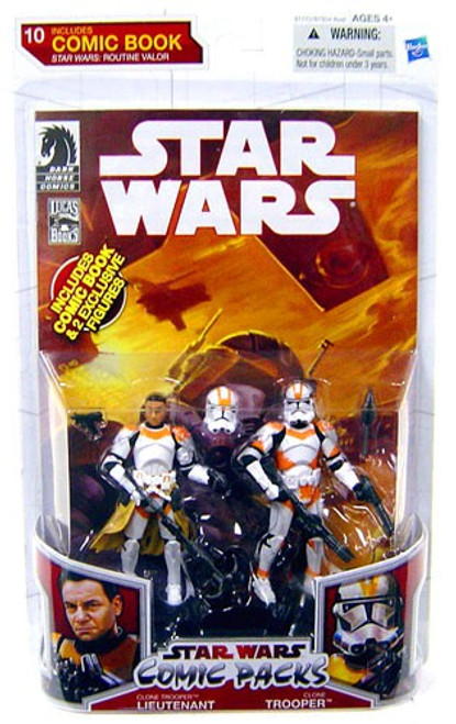 Star Wars 2009 Comic Packs Routine Valor Clone Trooper Lt. & Clone Trooper [Cody's Squad] Action Figure 2-Pack