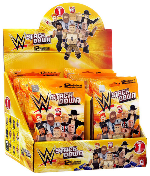 WWE Wrestling C3 Construction WWE StackDown Series 1 Mystery Box [24 Packs]