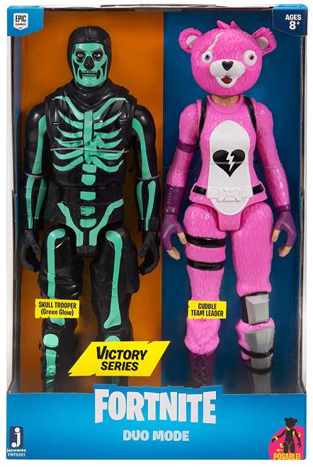 Fortnite Victory Series Skull Trooper (Green Glow) & Cuddle Team Leader Action Figure 2-Pack