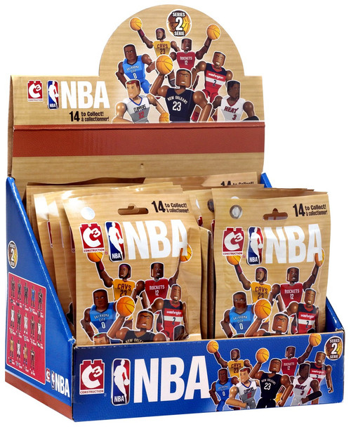 NBA C3 Construction Series 2 Buildable Figure Mystery Box [24 Packs]