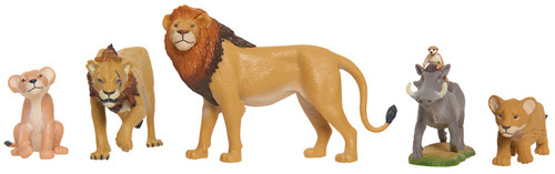 Disney The Lion King 2019 Young Nala, Scar, Young Simba, Simba & Timon & Pumbaa Figure 5-Pack