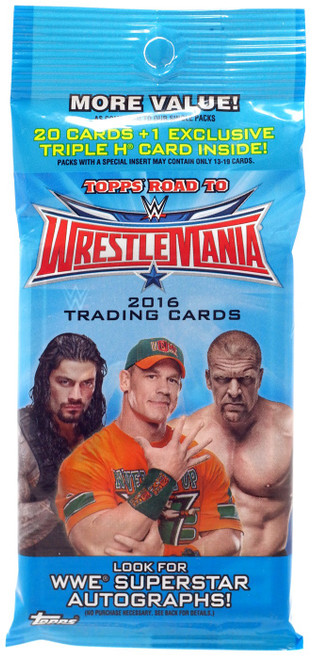 WWE Wrestling Topps 2016 Road to WrestleMania Trading Card VALUE Pack