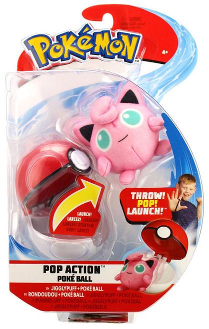 Pokemon Pop Action Poke Ball Jigglypuff & Poke Ball Throw Poke Ball Plush