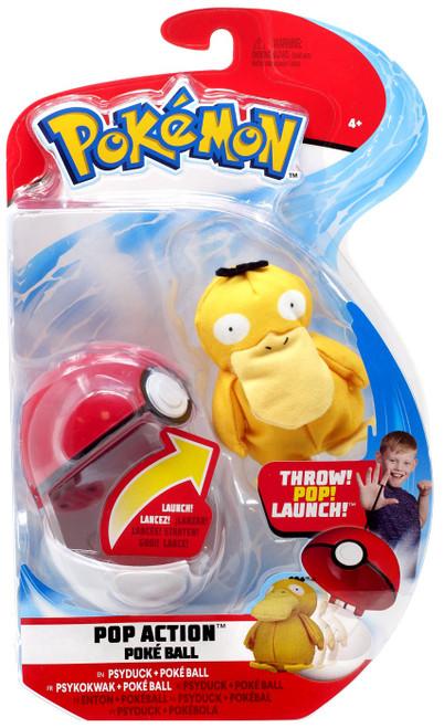 Pokemon Pop Action Poke Ball Psyduck & Poke Ball Throw Poke Ball Plush