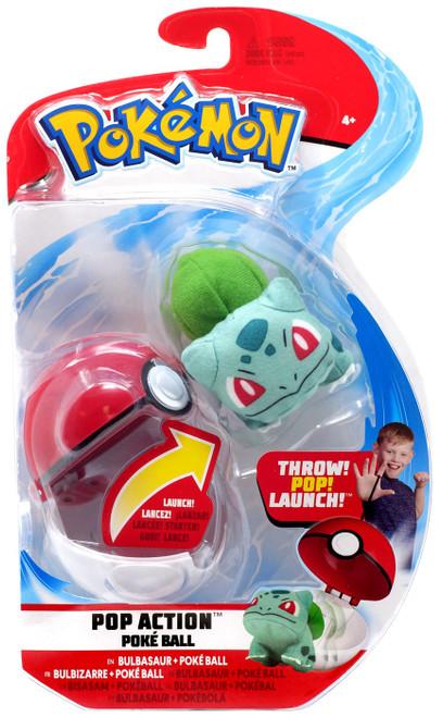 Pokemon Pop Action Poke Ball Bulbasaur & Poke Ball Throw Poke Ball Plush