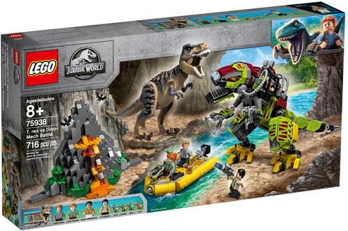 LEGO Jurassic World T. Rex vs. Dino-Mech Battle Set #75938