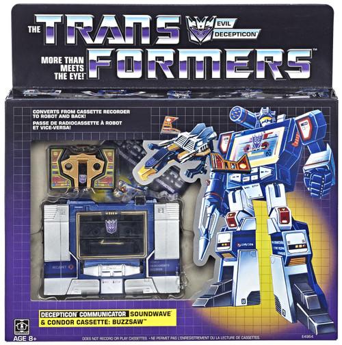 Transformers Gen 1 2019 Reissue Decepticon Communicator Soundwave & Condor Cassette: Buzzsaw Exclusive Action Figure