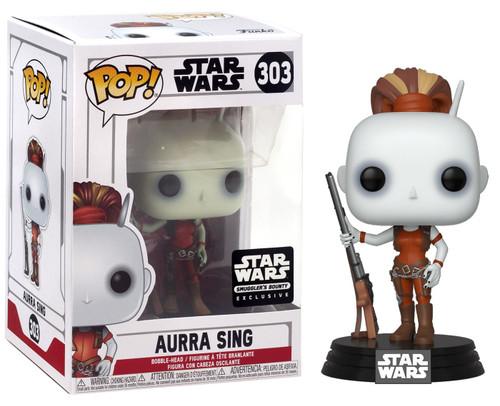 Funko POP! Star Wars Aurra Sing Exclusive Vinyl Bobble Head #303