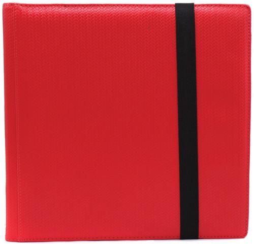 Card Supplies Dex Binder 12 Red 12-Pocket Binder [Limited Edition Black Suede Interior]