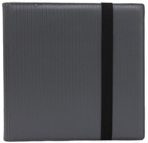 Card Supplies Dex Binder 12 Gray 12-Pocket Binder [Limited Edition Black Suede Interior]