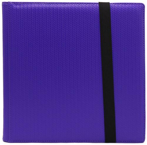 Card Supplies Dex Binder 12 Purple 12-Pocket Binder [Limited Edition Black Suede Interior]