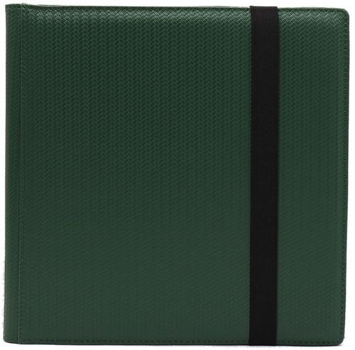 Card Supplies Dex Binder 12 Dark Green 12-Pocket Binder [Limited Edition Black Suede Interior]