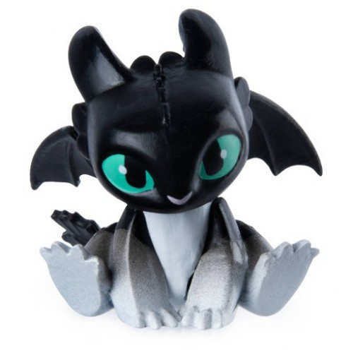 How to Train Your Dragon The Hidden World Mystery Dragon Night Light 1-Inch [Black, Sitting Loose]