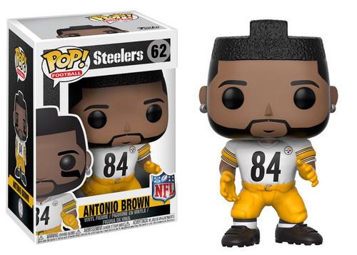 Funko NFL Pittsburgh Steelers POP! Sports Football Antonio Brown Vinyl Figure #62 [White Jersey, Damaged Package]