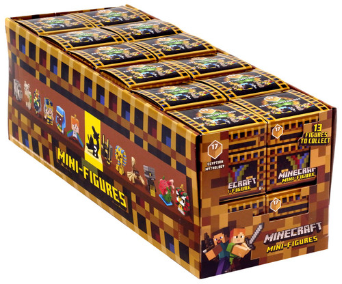 Minecraft Egyptian Mythology Series 17 Mystery Box [24 Packs]