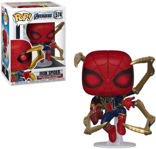 Funko Avengers Endgame POP! Marvel Iron Spider Vinyl Bobble Head #574 [Nano Gauntlet]