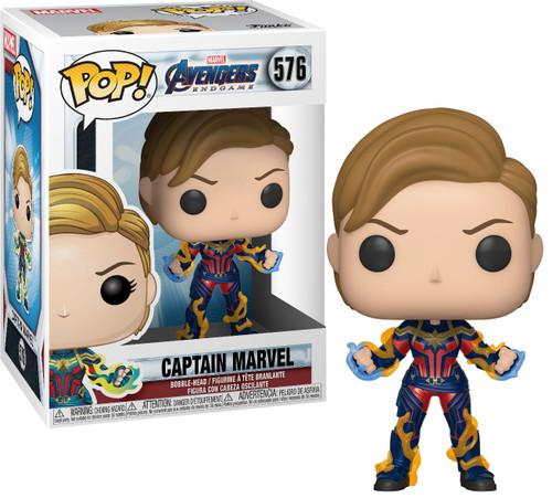 Funko Avengers Endgame POP! Marvel Captain Marvel Vinyl Bobble Head [New Hair]