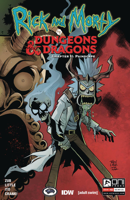 Oni Press Rick & Morty Vs. Dungeons & Dragons II #2 Comic Book [Troy Little Cover A]