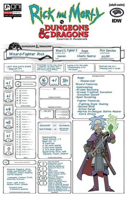 Oni Press Rick & Morty Vs. Dungeons & Dragons II #2 Comic Book [Troy Look Cover C]