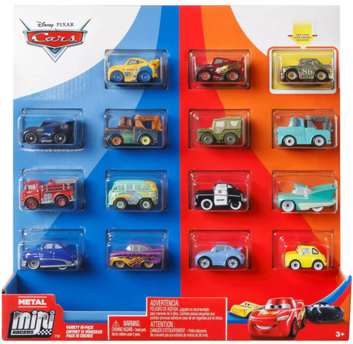 Disney / Pixar Cars Die Cast Metal Mini Racers Variety Exclusive Car 15-Pack