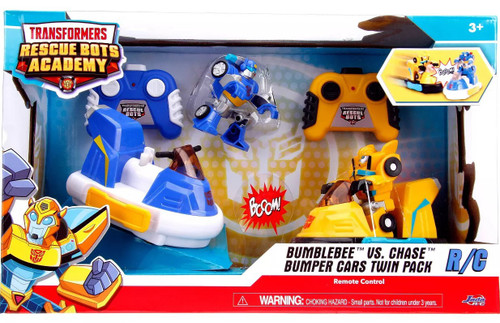 Transformers Playskool Heroes Rescue Bots Academy Bumblebee vs. Chase Exclusive R/C Bumper Cars 2-Pack