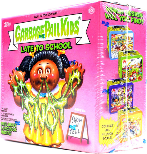 Garbage Pail Kids Topps 2020 Late To School Trading Card COLLECTOR Edition HOBBY Box [24 Packs, RANDOM Color Lunchbox!]