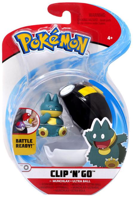 Pokemon Clip 'N' Go Munchlax & Ultra Ball Figure Set [Damaged Package]