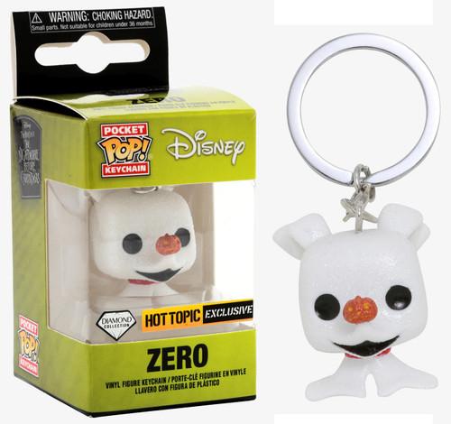 Funko Nightmare Before Christmas Pocket POP! Movies Zero Exclusive Keychain [Diamond Collection]