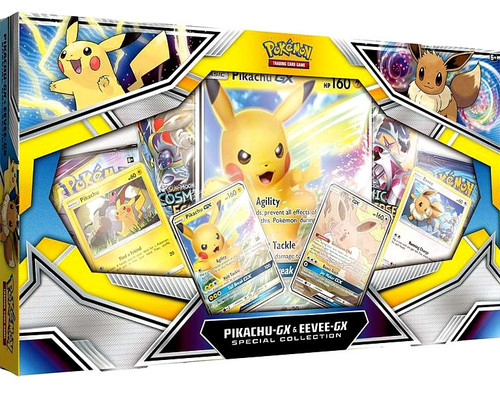 Pokemon Trading Card Game Pikachu-GX & Eevee-GX Special Collection [4 Booster Packs, 4 Promo Cards & Oversize Card]
