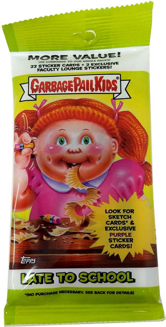 Garbage Pail Kids Topps 2020 Series 1 Late To School Trading Card Sticker VALUE Pack [22 Sticker Cards & 2 Faculty Lounge Stickers]