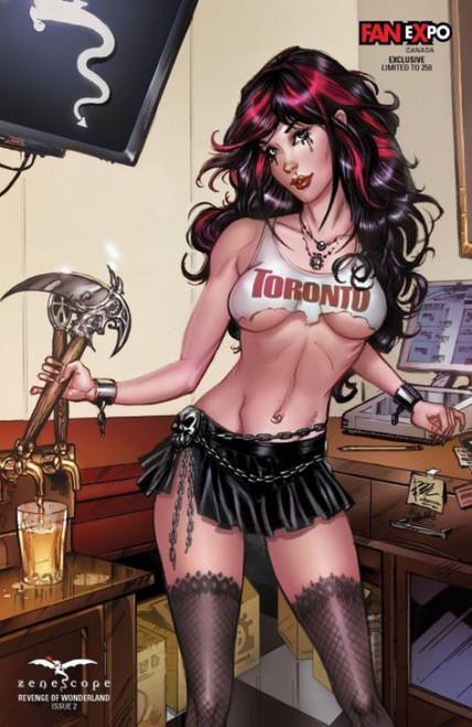 Zenescope Revenge of Wonderland #2 Limited to 250 Comic Book [Fan Expo Toronto Exclusive Elias Chatzoudis Variant Cover ]