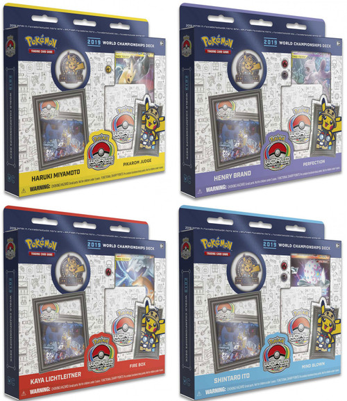 Pokemon Trading Card Game 2019 World Championships Set of 4 Starter Decks