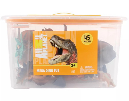 Animal Planet Mega Dino Tub Exclusive Playset [45 Pieces!]