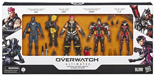 Overwatch Ultimates Carbon Series Genji, Zarya, Pharah & D. Va Exclusive Action Figure 4-Pack