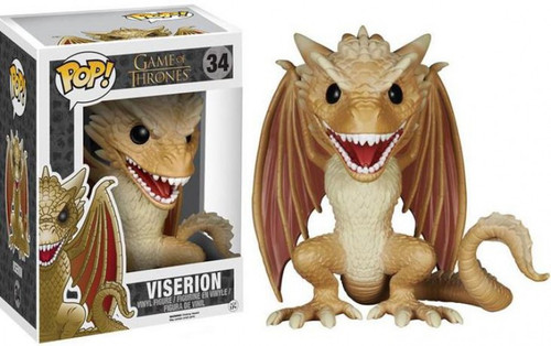 Funko Game of Thrones POP! TV Viserion 6-Inch Vinyl Figure #34 [Super-Sized Tan Version, Damaged Package]