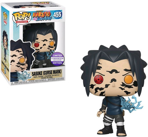 Funko Naruto POP! Animation Sasuke (Curse Mark) Exclusive Vinyl Figure #455 [Damaged Package]