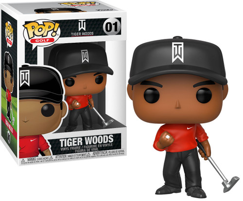 Funko POP! Golf Tiger Woods Vinyl Figure #01 [Red Shirt]