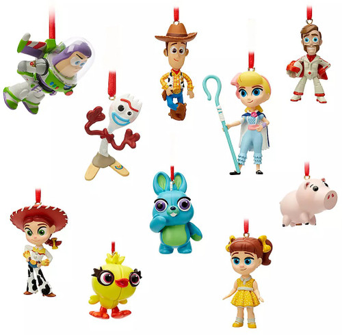Disney / Pixar Toy Story 4 Mini Exclusive Ornament 10-Pack Set