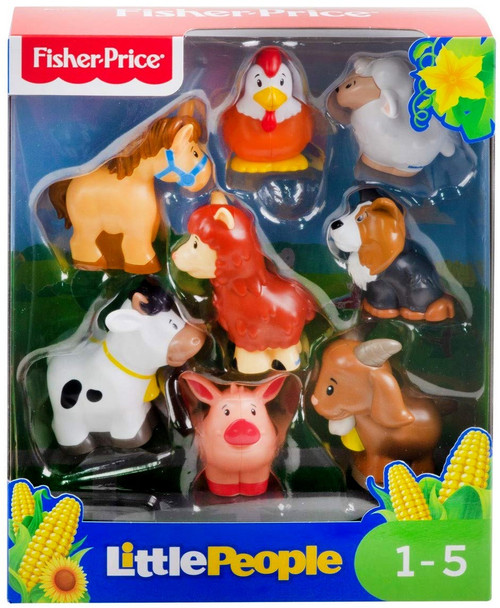 Fisher Price Little People Farm Animal Friends Figure 8-Pack