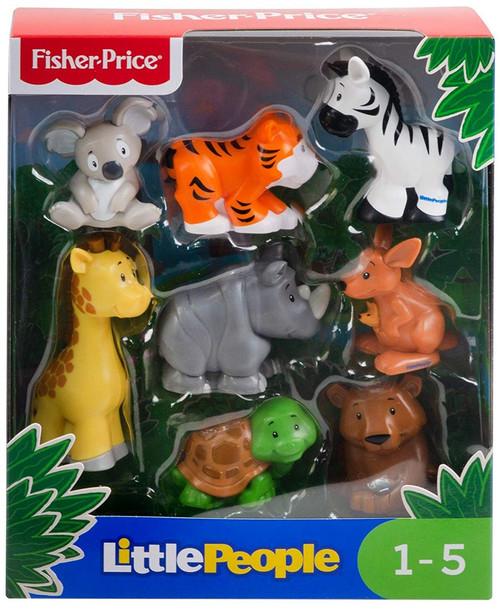 Fisher Price Little People Safari Animal Friends Figure 8-Pack